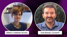 Mónica Carmona y José Manuel Calvente, responsables jurídicos de Podemos
