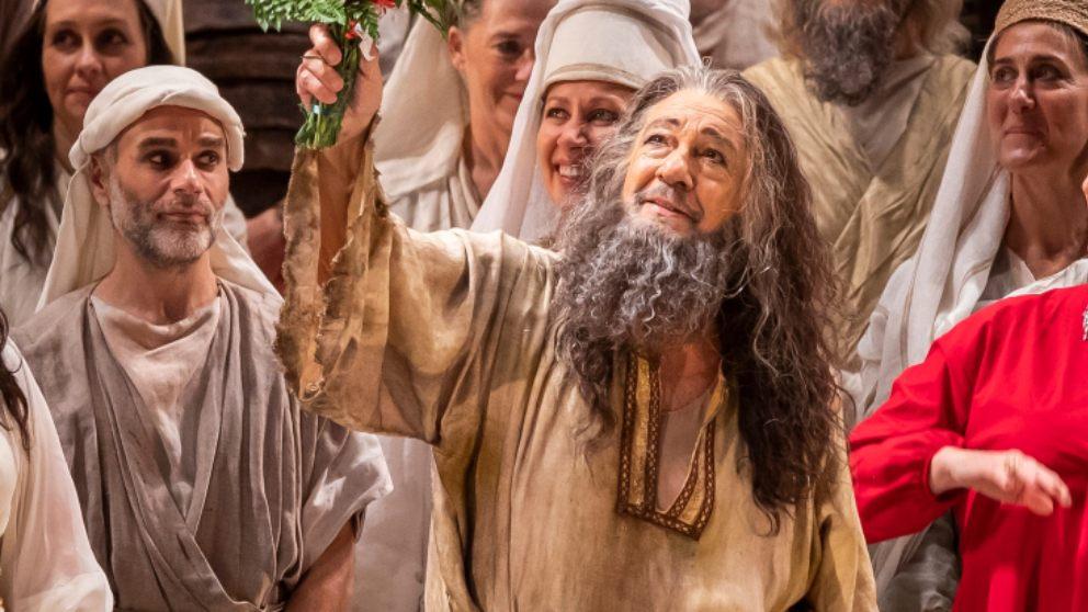 Plácido Domingo en la obra 'Nabucco' en Palau de les Arts de Valencia. Foto_
