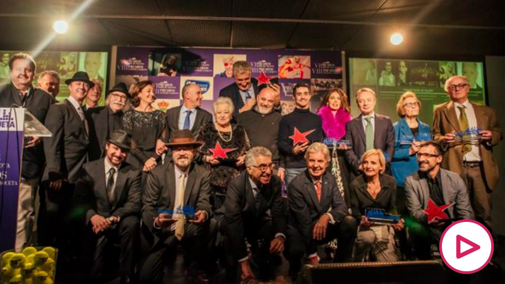Los galardonados en la gala de premios María de Villota y Ciudad de la Raqueta.