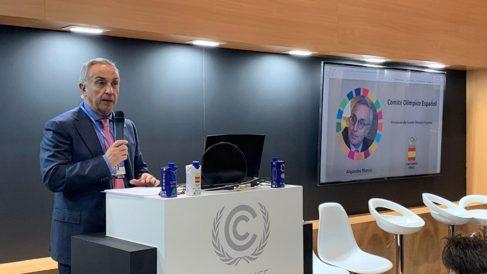 Alejandro Blanco, durante su discurso. (COE)