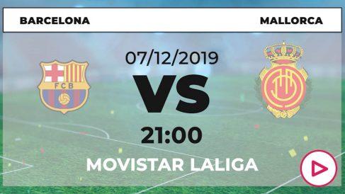 Liga Santander: Barcelona – Mallorca | Horario del partido de fútbol de Liga Santander.