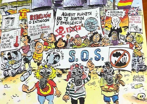 Colau riega con 220.000 € anuales a una asociación que crea calendarios separatistas y contra la Policía