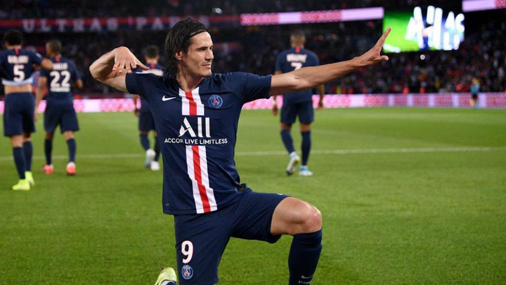 Edinson Cavani celebra un gol con el PSG (@ECavaniOfficial)