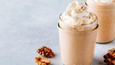 Granizado de cafe con nueces caramelizadas