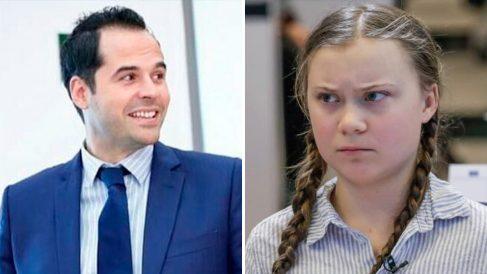Ignacio Aguado y Greta Thunberg