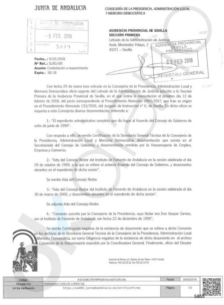 La Junta de Susana Díaz ocultó a la Justicia las actas de Gobierno que aprobaban partidas de los ERE