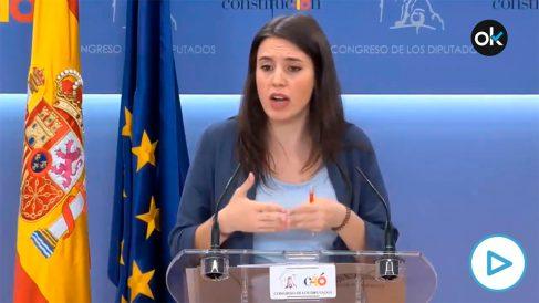 Irene Montero en junio de 2018: «Ninguna democracia puede permitirse trabajadoras rozando la esclavitud».