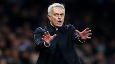 Mourinho, durante un partido del Tottenham (Getty)