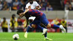 Carles Aleñá frente al Chelsea. (AFP)