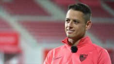 Chicharito Hernández en una entrevista (Sevilla Fútbol Club)
