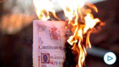 Radicales separatistas de Arran y los CDR convocan una concentración para «quemar la Constitución» en Barcelona.