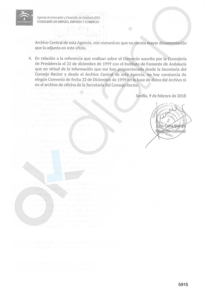 El Gobierno de Susana Díaz ocultó a la Justicia documentos de la Agencia IDEA que prueban el fraude de los ERE