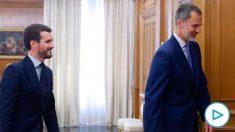 Pablo Casado y el Rey Felipe VI