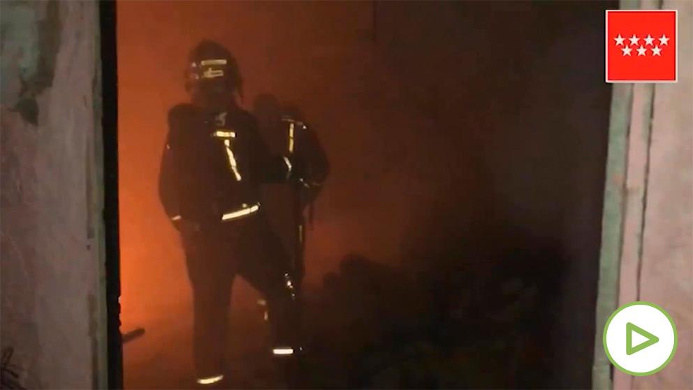 Incendio en Coslada (Madrid).