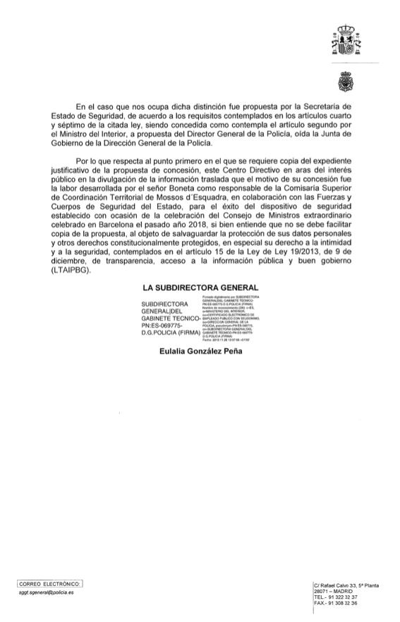 """Marlaska condecoró a un comisario separatista de los Mossos por su """"alto sentido del patriotismo"""""""