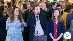 pablo Iglesias comparece ante los medios en el Día de la Constitución