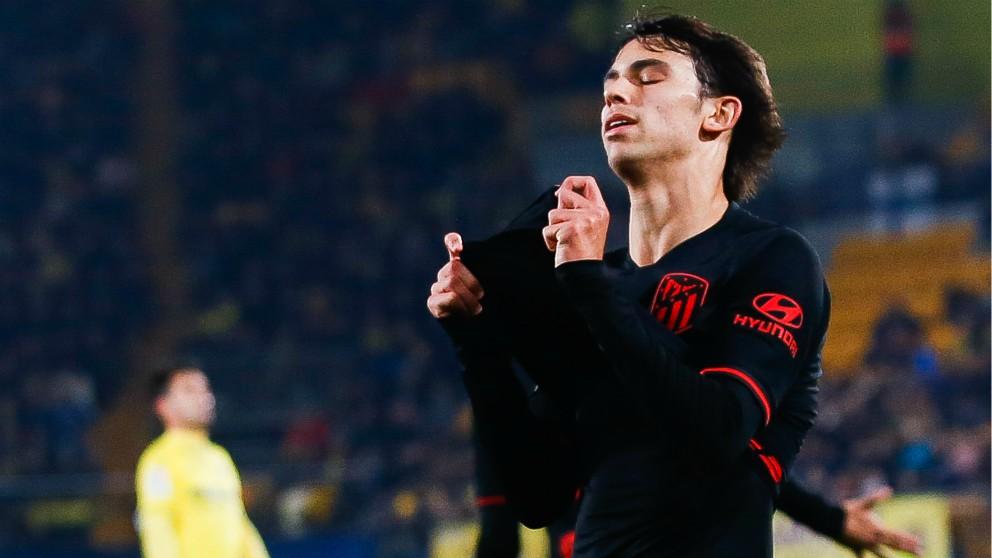 Joao Félix se lamenta tras una ocasión en el Villarreal – Atlético. (Getty)