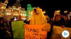 Un momento de la Marcha del Clima en Madrid