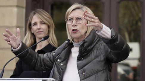 Rosa Díez en el acto de 'Libres e iguales' en Bilbao. Foto: Europa Press