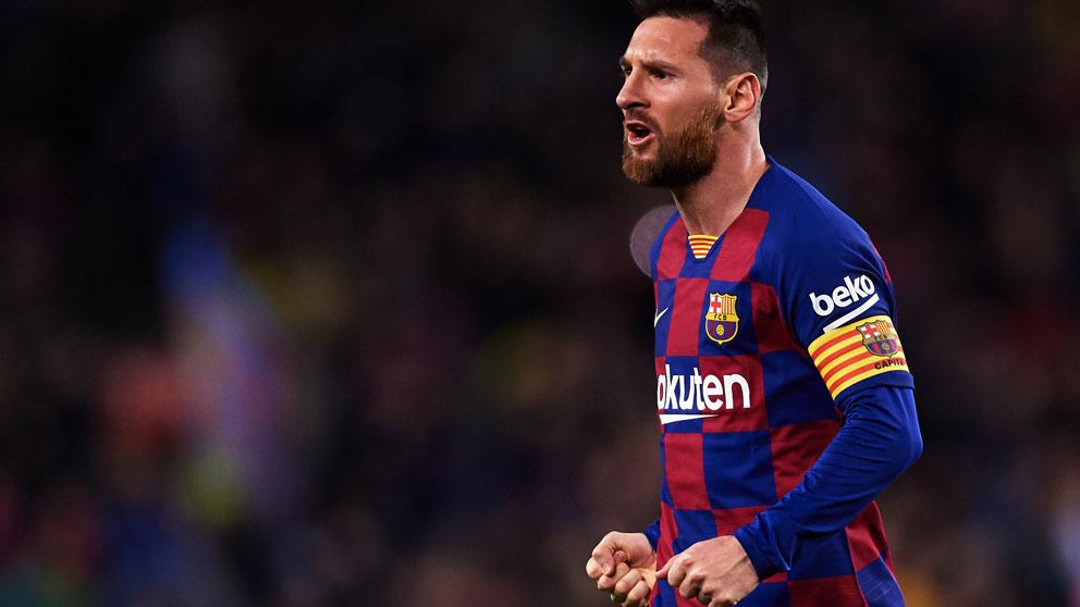Messi, durante un partido del Barcelona. (AFP)