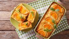 Pastel de cuscús y naranja