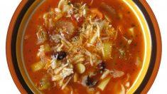 Receta de Sopa de verduras y champiñones con azafrán