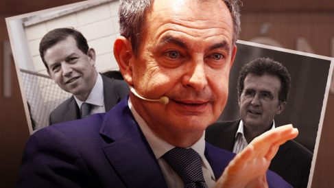 El abogado del Estado Arturo Cortés de la Cruz, el ex presidente José Luis Rodríguez Zapatero y el constructor José Luis Ulibarri.