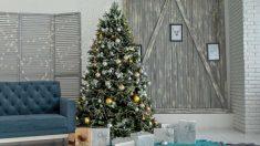 El minimalismo es una gran opción, incluso en Navidad