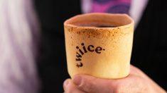 Una aerolínea propone utilizar vasos de café comestibles