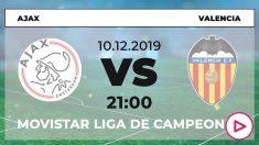 Ajax – Valencia: Horario del partido de fútbol hoy de Champions League