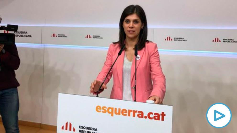 Marta Vilalta, portavoz adjunta de ERC, en la rueda de prensa que ha ofrecido hoy. (Ep)