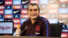 Ernesto Valverde, en rueda de prensa. (FCBarcelona)