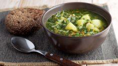 Receta de Sopa de patatas y espinacas