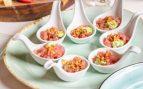 Receta de tartar de atún macerado con mango y aguacate