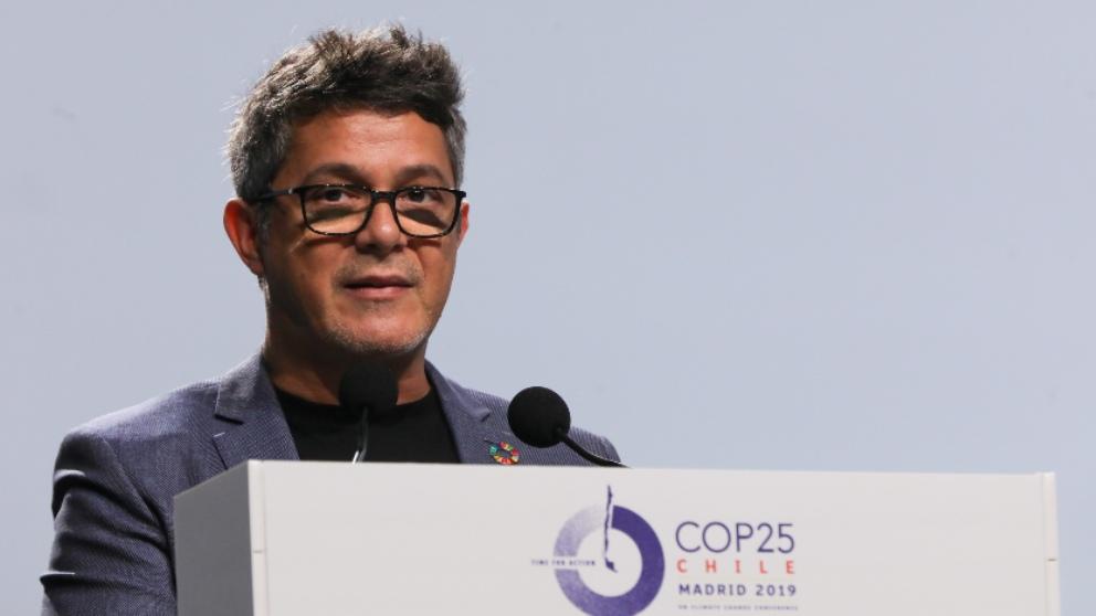 Alejandro Sanz en la Cumbre del Clima. Foto: EP
