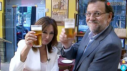 Mariano Rajoy y Ana Rosa Quinana