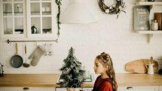 La decoración navideña tiene presencia en todas las estancias de la casa