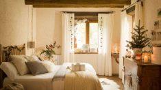 El dormitorio es una de las estancias más bonitas de la casa, especialmente en Navidad