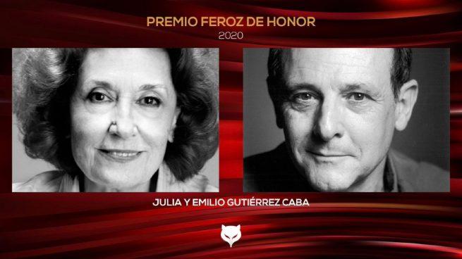 Los Premios Feroz otorgarán su Premio de Honor 2020 a los actores Julia y Emilio Gutiérrez Caba