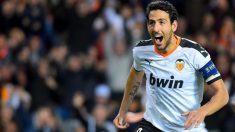 Parejo celebra un gol en Champions esta temporada. (AFP)