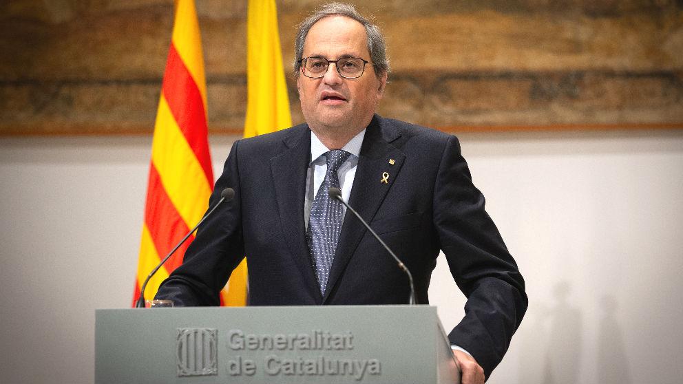 El presidente de la Generalitat de Cataluña, Quim Torra. (Foto: Europa Press)