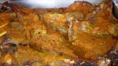 Receta de cordero asado navideño con salsa de setas