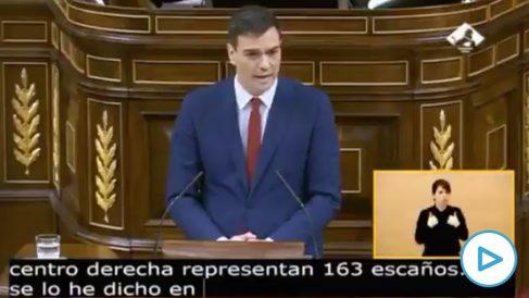 Pedro Sánchez en 2016: «Yo no voy a permitir, con todos los respetos hacia los votantes de ERC, que la gobernabilidad de España descanse en partidos independentistas».