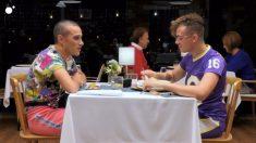 Aarón y Juanlu en 'First Dates'