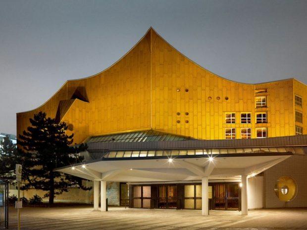 Exterior de la Filarmónica de Berlín.