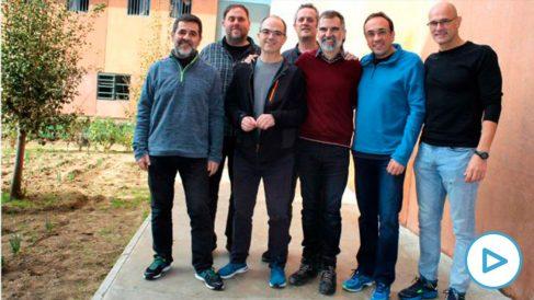 Los siete golpistas varones presos en la cárcel de Lledoners.