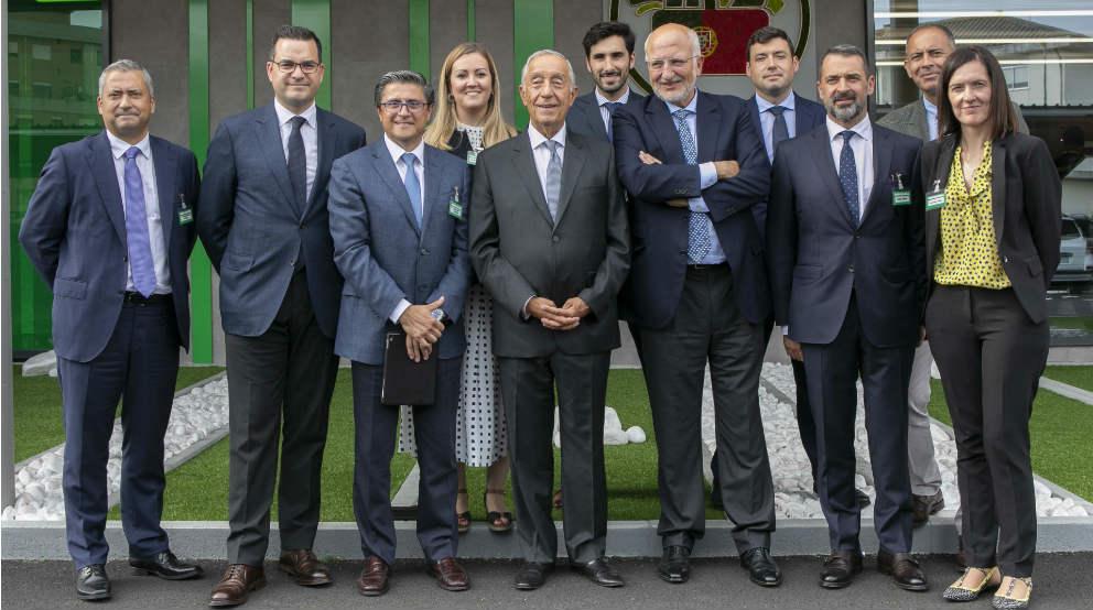 Juan Roig junto al presidente de la República de Portugal Marcelo Rebelo de Sousa