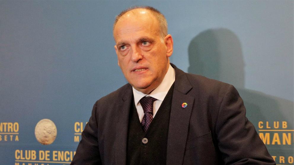 Javier Tebas, en un evento reciente en Barcelona.