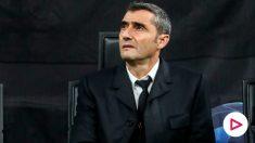 Ernesto Valverde, en el partido contra el Inter. (AFP)