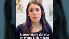 Irene Montero, en el vídeo en el que señalaba a la propietaria.